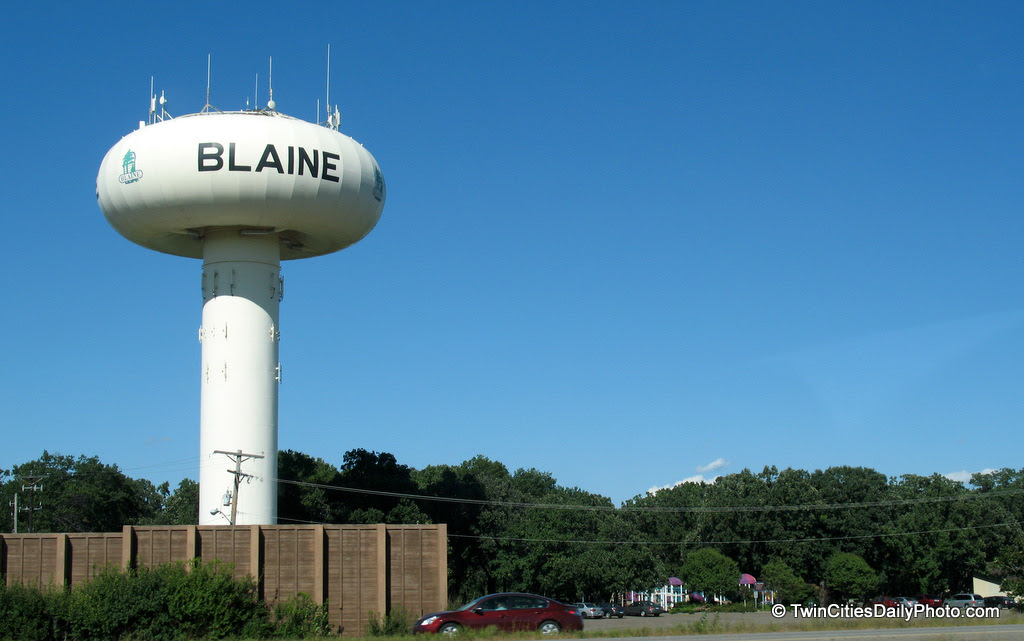 When I look at the Blaine water tower, I see a mushroom cloud. Regardless, it's a funny design.