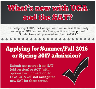 Georgia will not accept redesigned SAT for Fall '16 or Spring '17