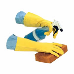 Impact-Products Flock-Lined Latex Gloves, 1 Pair - Large | Bakedeco