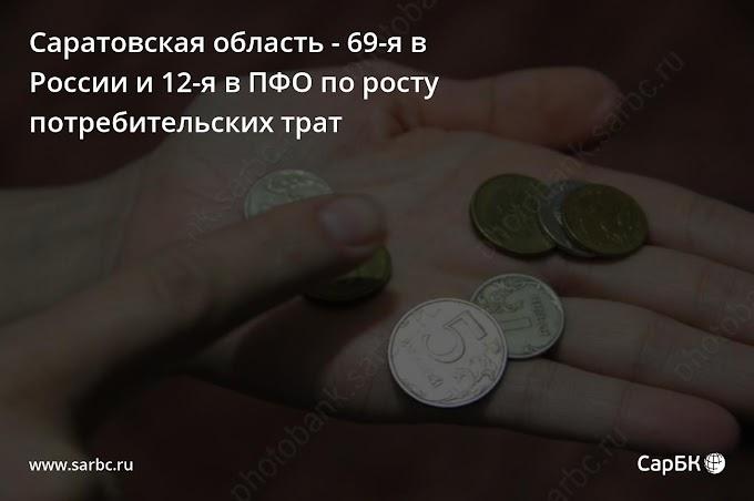 Саратовская область - 69-я в России и 12-я в ПФО по росту потребительских трат