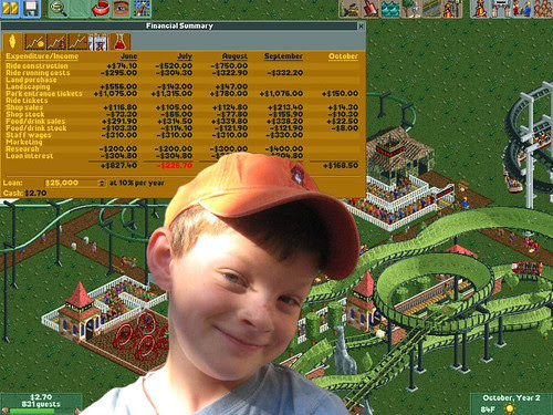 Teach Your Child Money and Business Skills with Roller Coaster Tycoon