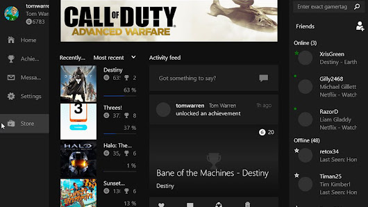 Leaked Windows 10 shows off Xbox app