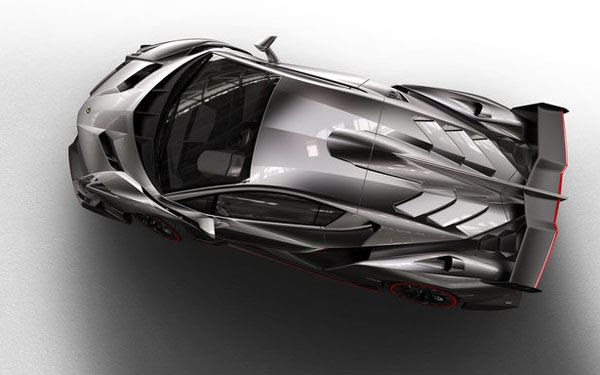 A top view of the Lamborghini Veneno..