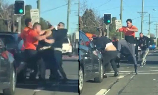 Road rage dispute ends badly after tradies emerge from car