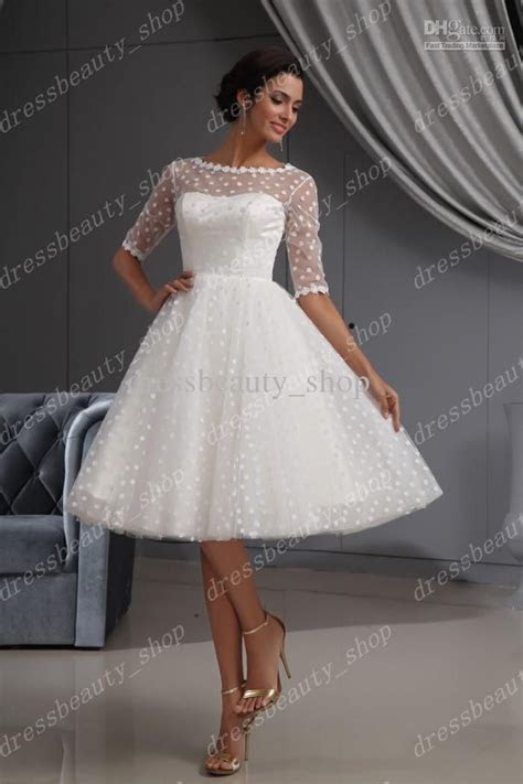 Cheap 2013 Elegant Dotted Tulle Lace Hem Short Knee Length