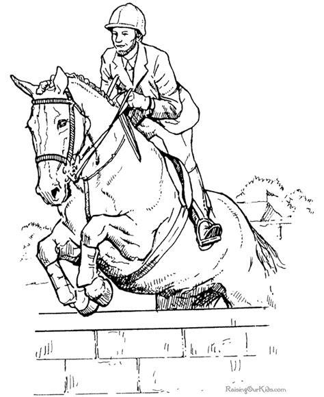 ausmalbilder pferde springen - kostenlose malvorlagen ideen