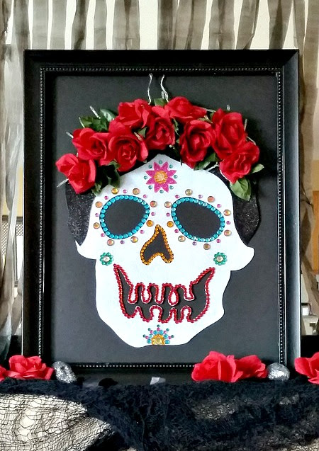 How To Make An Llluminated Day Of The Dead Sugar Skull Art