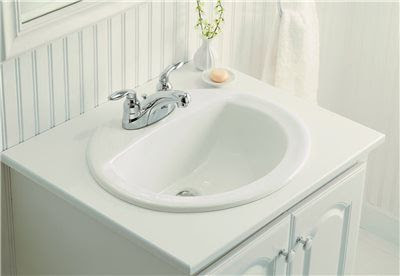 Sanibel Bathroom Sink Oval 20 Inch X 17 Inch White Jrm Supplies