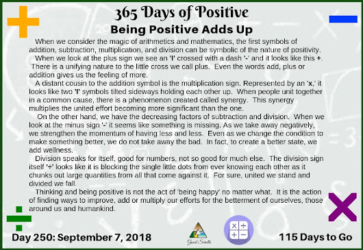 365 Days of Positive | Being Positive Adds Up - Good Scrolls