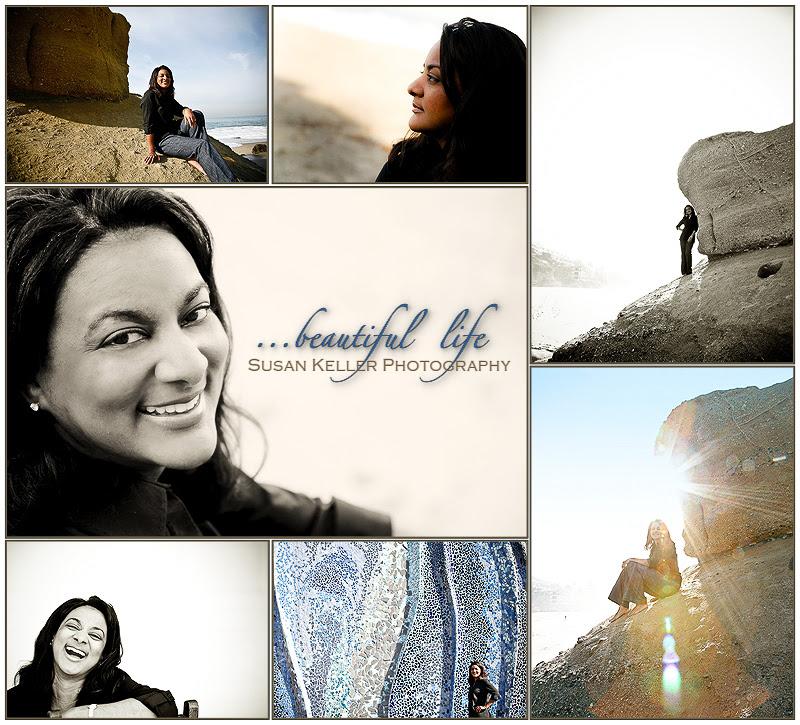 kim beach collage