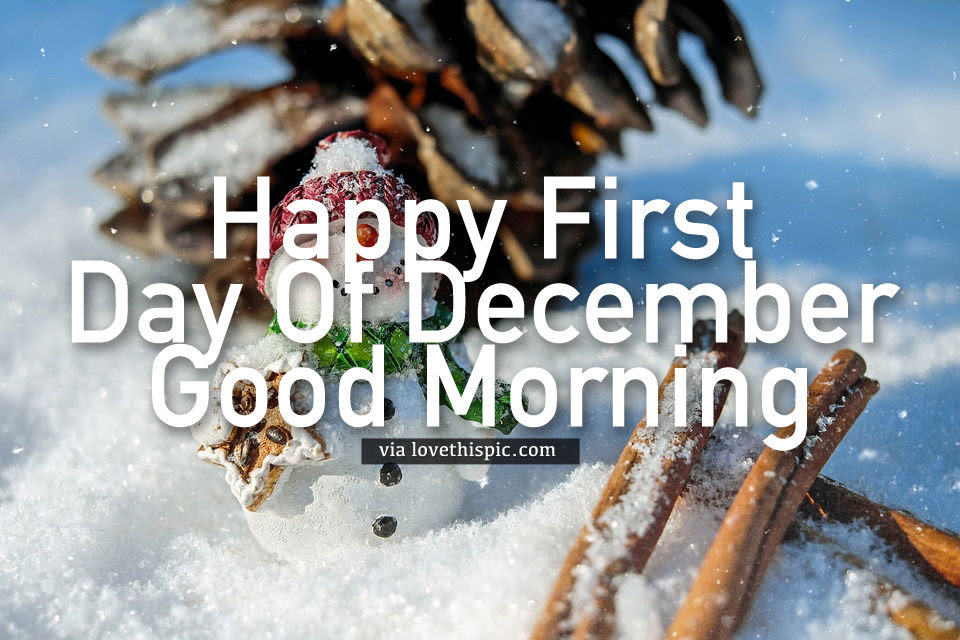 Snowman Happy First Day Of December Good Morning Quote Pictures