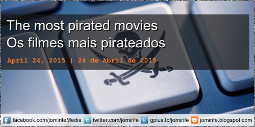 The most pirated movies on the internet | Os filmes mais pirateados na internet