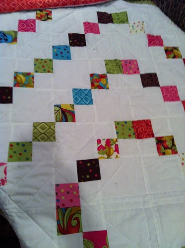Mom's quilt, quilted!