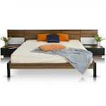 VIG Modrest Rondo Walnut King Bed w/Nightstands Storage and Lights Modern