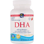Nordic Naturals DHA, 500 mg, Soft Gels, Strawberry - 90 soft gels