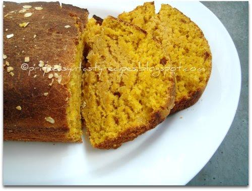 Butternut squash & oats bread