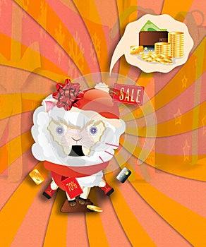 Shocked Shopping Sheep
