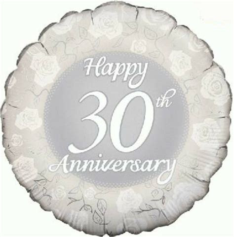 pearl wedding anniversary party decoration  foil