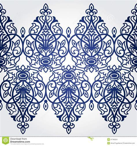 Vector Seamless Border In Victorian Style. Stock