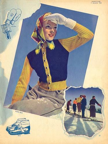 Marie Claire  1938 ski