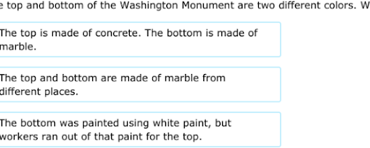 Practicing Fifth grade social studies: 'The Washington Monument'