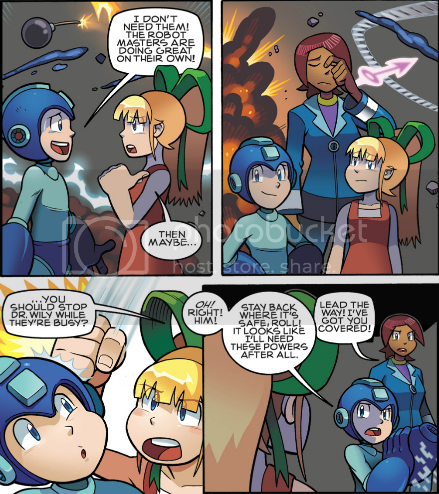 from Megaman #'s 5-8, by Archie Comics