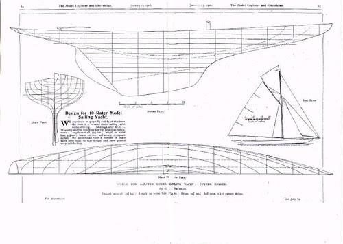 map model boat plans
