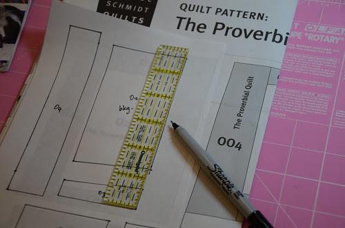Proverbial Quilt Along - Freezer Paper templates