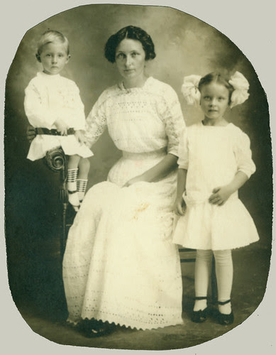 Mother and two
