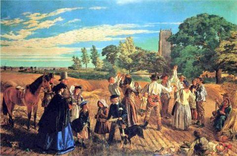 Hullo, Largess! A Harvest Scene In Norfolk