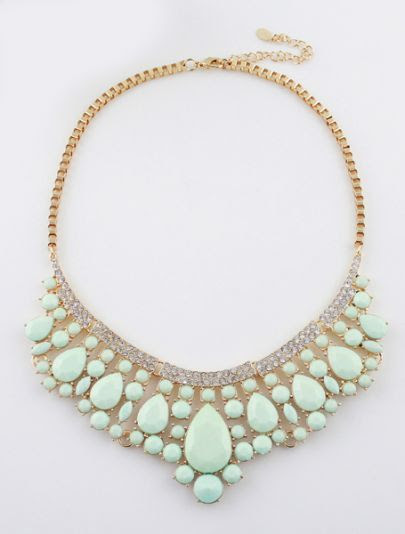 beautiful, mint statement necklace
