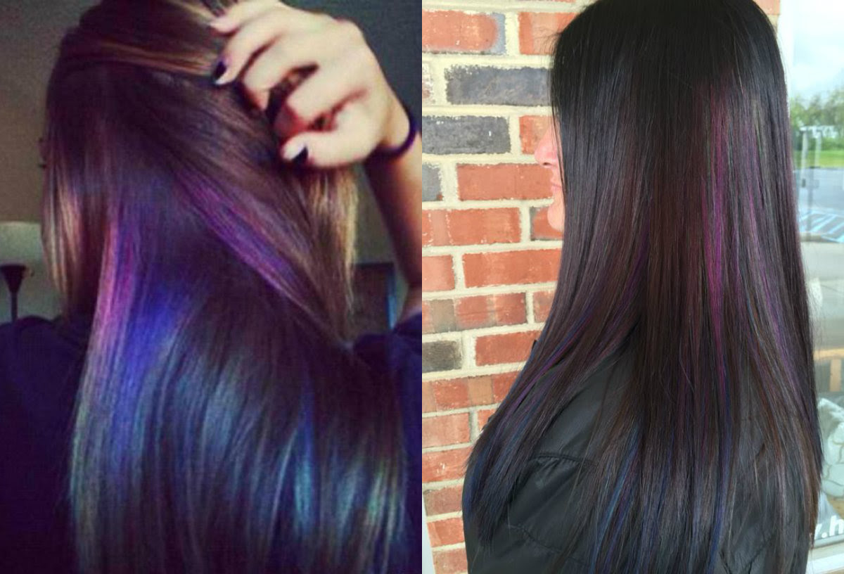 Oil Slick Hair Colors: Pastel For Brunettes?  Hairstyles, Haircuts and Hair Colors On Hairdrome.com