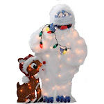 """32"""" Pre-Lit Peanuts Rudolph and Bumble 2-D Christmas Outdoor Decoration"""