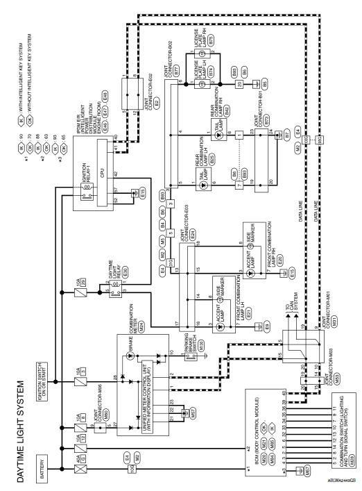 Nissan Sentra Service Manual Wiring Diagram Exterior Lighting System Driver Controls