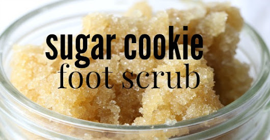 Sugar Cookie Homemade Foot Scrub