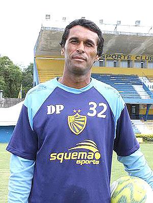 Adnan, goleiro do Pelotas-RS, primeira vítima de Rogério Ceni (Foto: Bruno Diniz/SporTV)