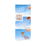 """Magnetic Polycarbonate Chocolate Mold 2pc. Round 1"""" Dia x 0.5"""" High, 28 Cavities 