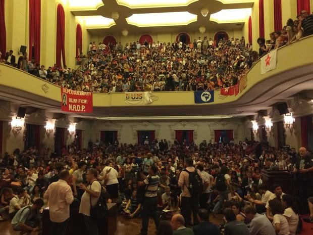 Ato pró governo (Foto: Lívia Machado/G1)