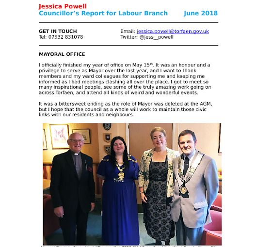 Labour Branch Report - June 2018