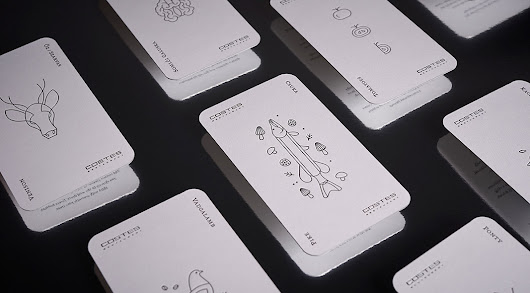 Costes Restaurant - playing cards design by studio NUR