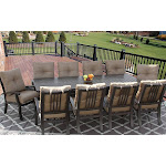 Patio 11pc Dining Set for 10 Person with Rectangle Table