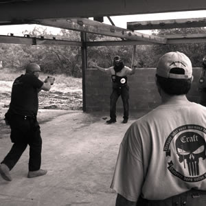 More Photos Show Private Military Security Running Drills at Boston Marathon Gun Training Craft Skull Shirt