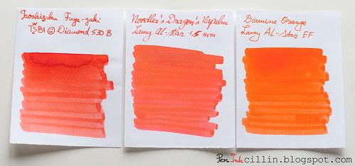 Fuyu-gaki, Dragon's Napalm, Diamine Orange