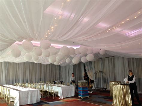Wedding ceiling draping, tent draping effect, paper
