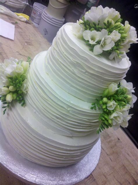fresh flowers, buttercream wedding cake, Merci Beaucoup