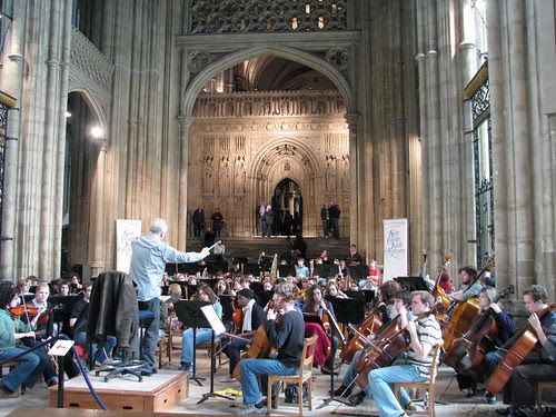 Orchestra in Canterbury Cathedral