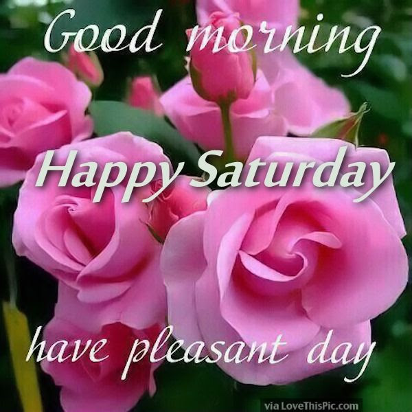 Good Morning Happy Saturday Have A Pleasant Day Pictures Photos