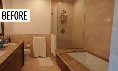 The 5 Design Secrets It Took to Make This Dark, Drab Bathroom Feel Like a Spa