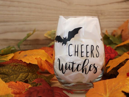 Cheers Witches Wine Glass Cheers Witches Stemless Wine | Etsy