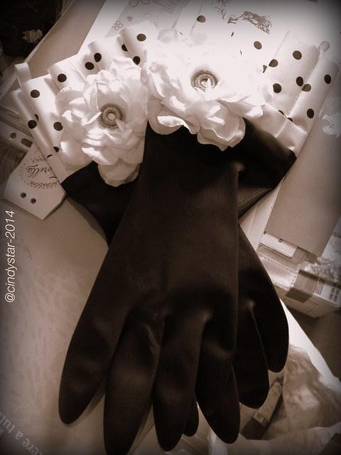 fashion kitchen gloves